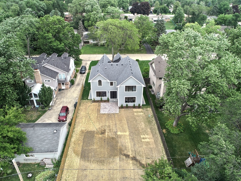 Real Estate Photography - 2241 Covert, Glenview, IL, 60025 - Aerial View