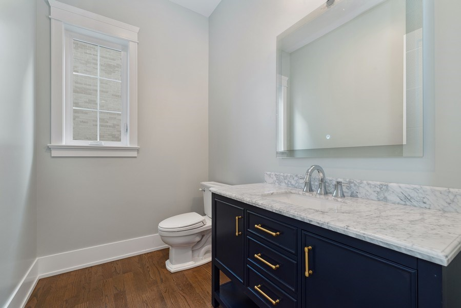 Real Estate Photography - 2241 Covert, Glenview, IL, 60025 - Powder Room