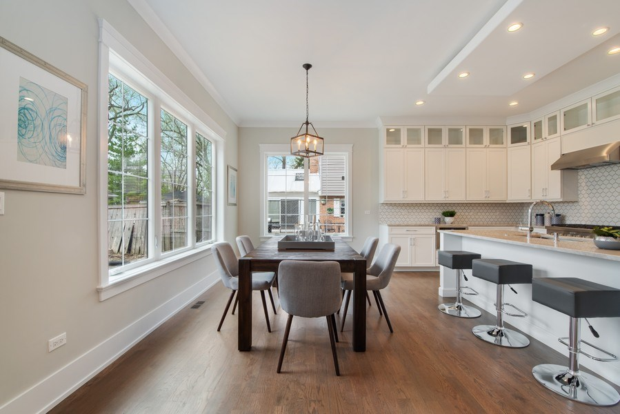 Real Estate Photography - 2241 Covert, Glenview, IL, 60025 - Breakfast Area