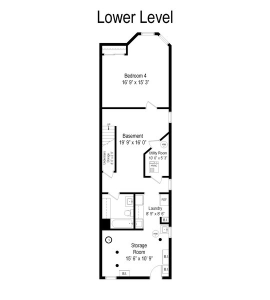 Real Estate Photography - 5408 S Kimbark Ave, Chicago, IL, 60615 - Floor Plan