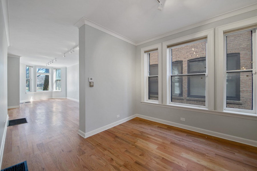 Real Estate Photography - 5408 S Kimbark Ave, Chicago, IL, 60615 - Living Room / Dining Room