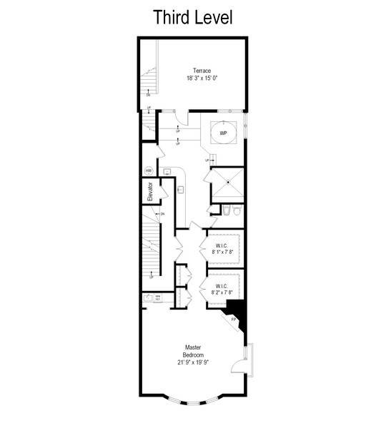 Real Estate Photography - 1939 N Hudson Ave, Chicago, IL, 60614 - Floor Plan