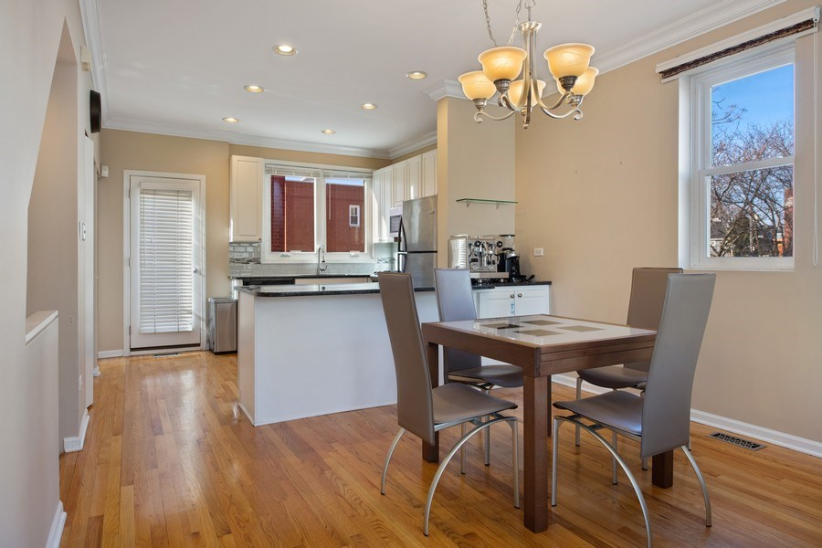 Real Estate Photography - 1833 Oakdale Ave Unit A, Chicago, IL, 60657 - Dining Room
