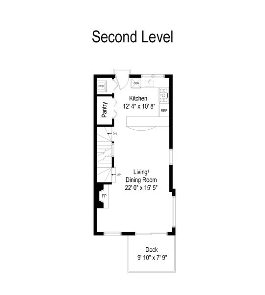 Real Estate Photography - 1833 Oakdale Ave Unit A, Chicago, IL, 60657 - Floor Plan
