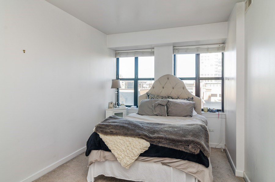 Real Estate Photography - 451 W Huron Ave, Unit 602, Chicago, IL, 60654 - Bedroom