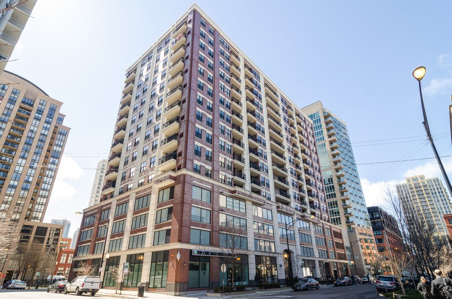 Real Estate Photography - 451 W Huron Ave, Unit 602, Chicago, IL, 60654 - Front View
