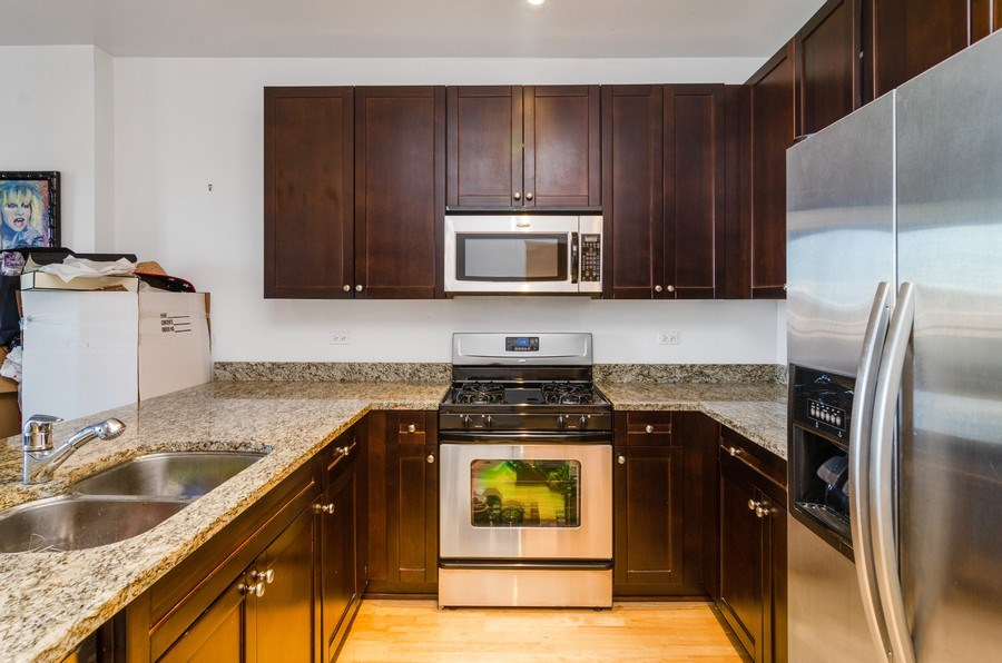 Real Estate Photography - 451 W Huron Ave, Unit 602, Chicago, IL, 60654 - Kitchen