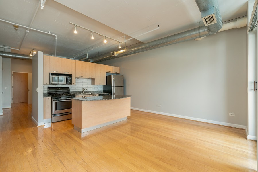 Real Estate Photography - 111 S Morgan, Unit 803, Chicago, IL, 60607 - Living Room