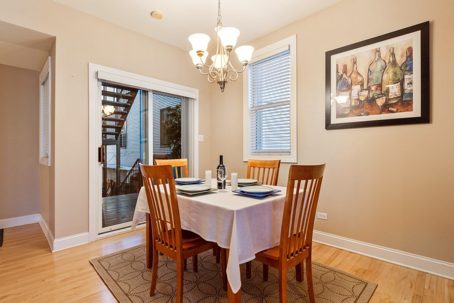 Real Estate Photography - 1968 W Foster Ave, Unit D, Chicago, IL, 60640 - Dining Area