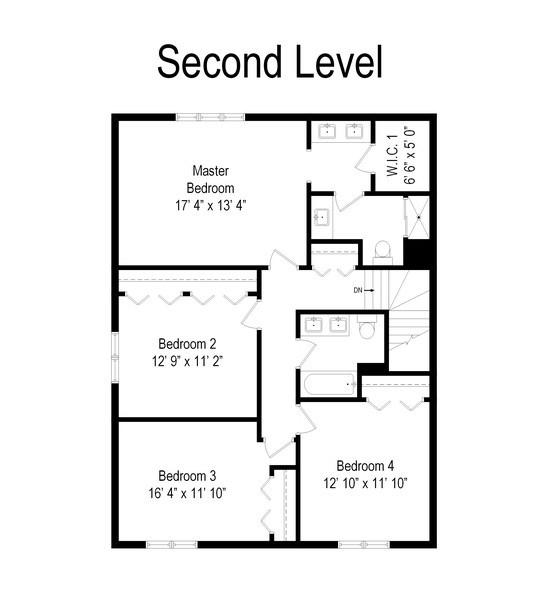 Real Estate Photography - 3612 Liberty Lane, Glenview, IL, 60025 - Floor Plan