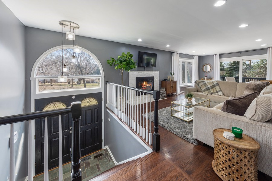 Real Estate Photography - 210 Roberts road, Inverness, IL, 60010 - Foyer/Living Room