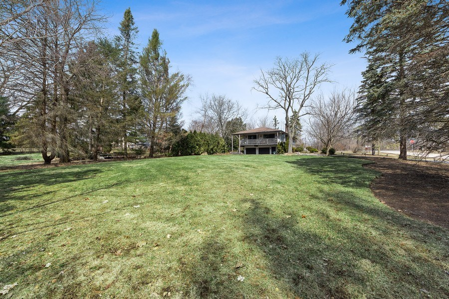 Real Estate Photography - 210 Roberts road, Inverness, IL, 60010 - Back Yard