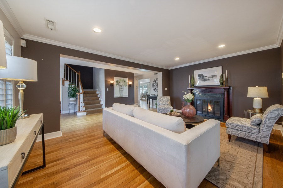 Real Estate Photography - 1115 N Patton, Arlington Heights, IL, 60004 - Living Room