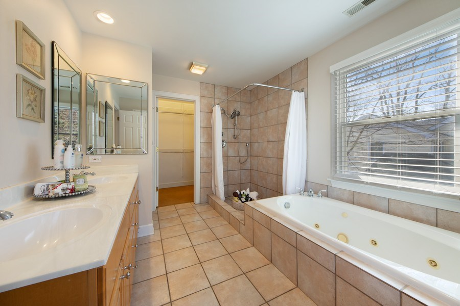 Real Estate Photography - 1115 N Patton, Arlington Heights, IL, 60004 - Master Bathroom