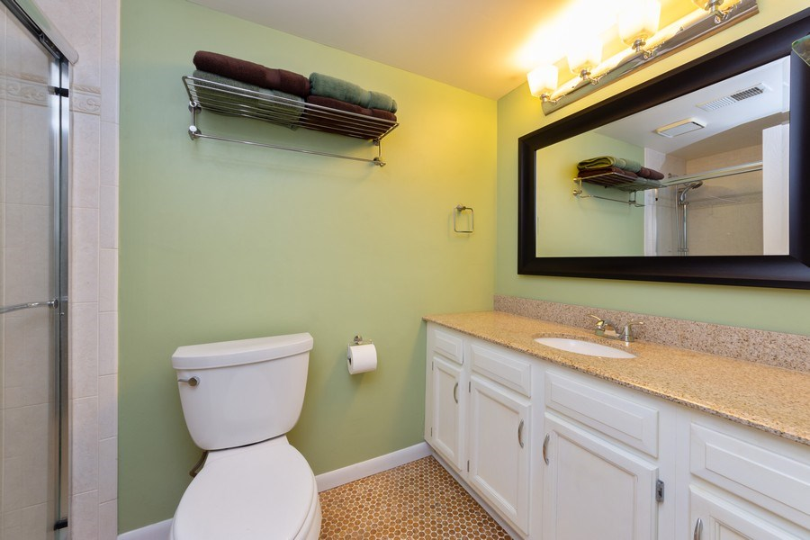 Real Estate Photography - 355 W Miner Street, Unit #2C, Arlington Heights, IL, 60005 - Master Bathroom