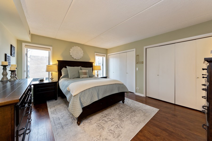 Real Estate Photography - 355 W Miner Street, Unit #2C, Arlington Heights, IL, 60005 - Master Bedroom