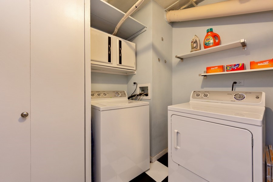 Real Estate Photography - 355 W Miner Street, Unit #2C, Arlington Heights, IL, 60005 - Laundry Room
