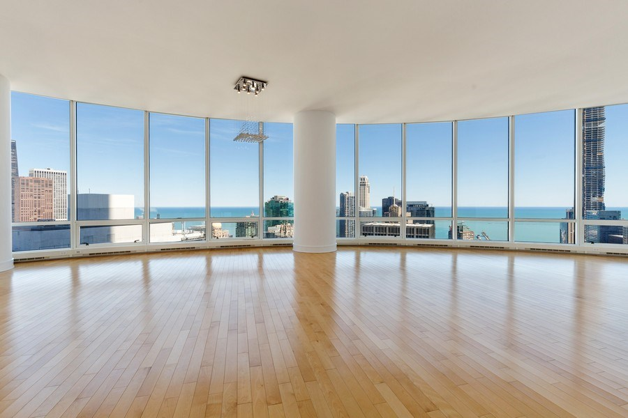 Real Estate Photography - 401 N. Wabash, 40A, Chicago, IL, 60611 - Living Room / Dining Room