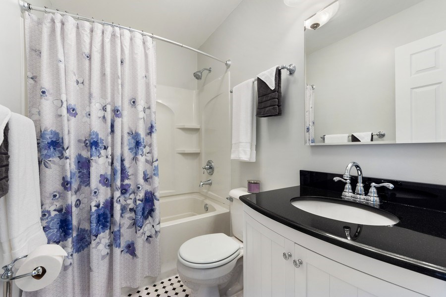 Real Estate Photography - 432 Meadow Hill Ln, Round Lake Beach, IL, 60073 - 2nd Bathroom