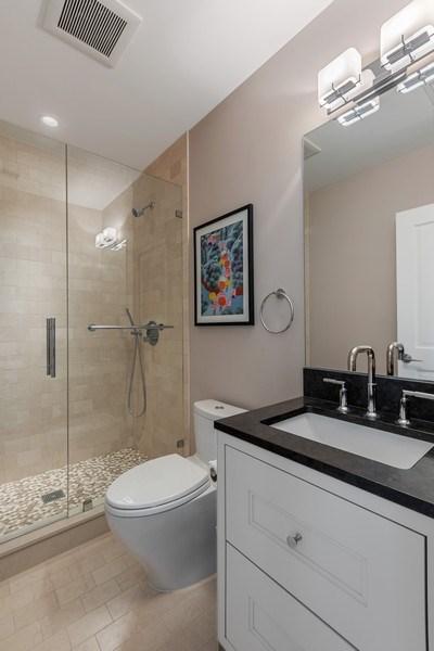Real Estate Photography - 1912 North Hudson Avenue, Chicago, IL, 60614 - Top Floor Bathroom