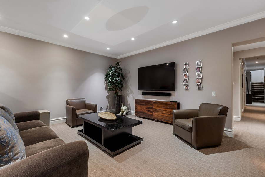 Real Estate Photography - 1912 North Hudson Avenue, Chicago, IL, 60614 - Lower Level Rec Room