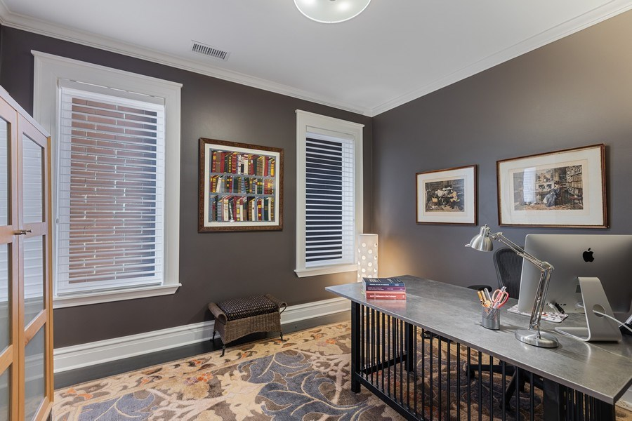 Real Estate Photography - 1912 North Hudson Avenue, Chicago, IL, 60614 - 4th Bedroom (Used As Office)