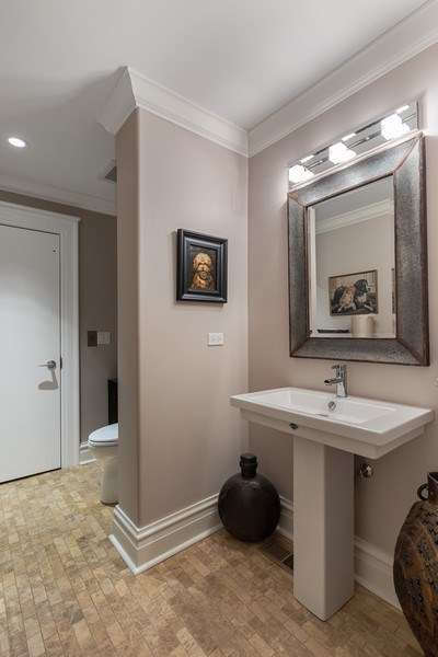 Real Estate Photography - 1912 North Hudson Avenue, Chicago, IL, 60614 - Lower Level Bathroom