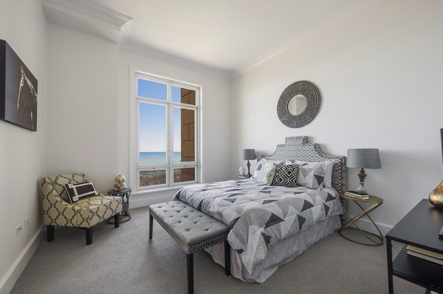 Real Estate Photography - 2550 N Lakeview #N1803, Chicago, IL, 60614 - Master Bedroom