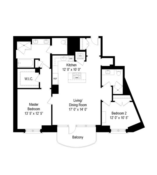 Real Estate Photography - 2550 N Lakeview #N1803, Chicago, IL, 60614 - Floor Plan