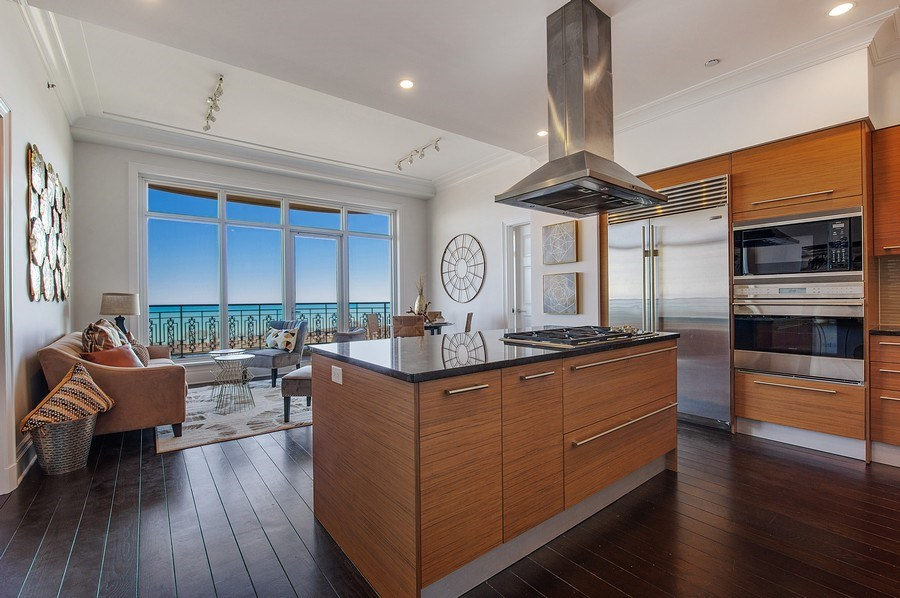 Real Estate Photography - 2550 N Lakeview #N1803, Chicago, IL, 60614 - Kitchen/Living