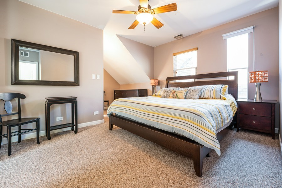 Real Estate Photography - 1950 N Richmond Ave, Chicago, IL, 60647 - Master Bedroom