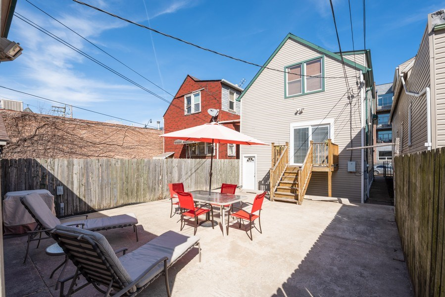 Real Estate Photography - 1950 N Richmond Ave, Chicago, IL, 60647 - Back Deck and Patio