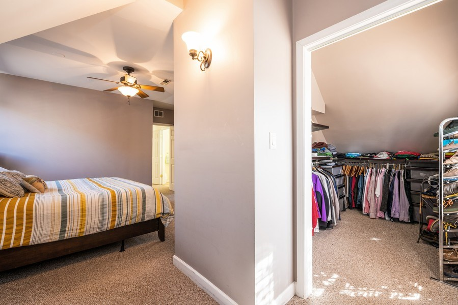 Real Estate Photography - 1950 N Richmond Ave, Chicago, IL, 60647 - Master Bedroom Closet