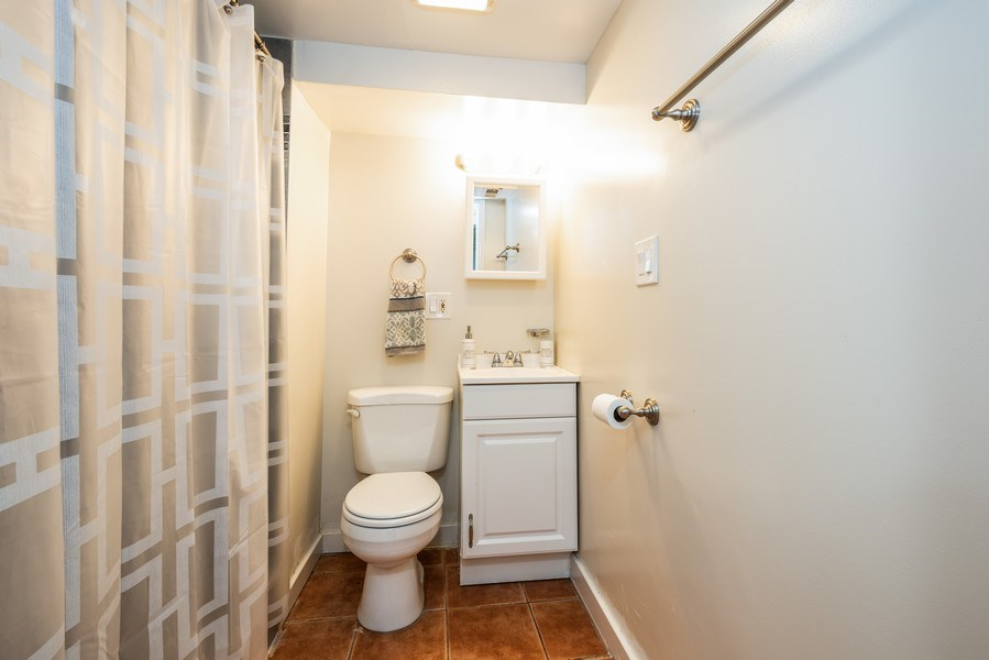 Real Estate Photography - 1950 N Richmond Ave, Chicago, IL, 60647 - Lower Level Bathroom