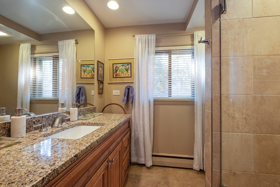 Real Estate Photography - 1888 Elmwood Drive, Highland Park, IL, 60035 - Master Bathroom