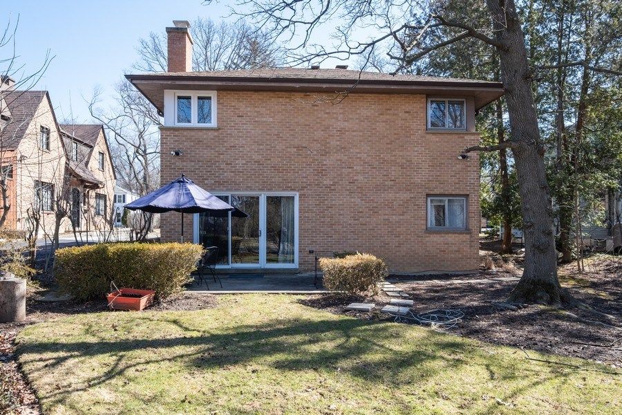 Real Estate Photography - 1888 Elmwood Drive, Highland Park, IL, 60035 - Rear View