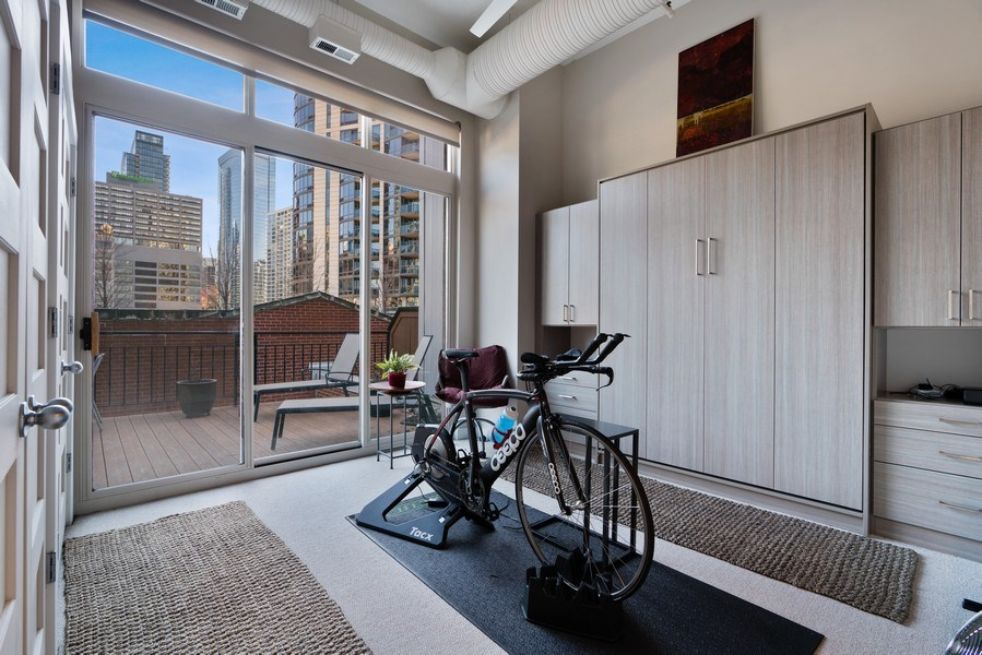 Real Estate Photography - 360 West Illinois, Unit 619, Chicago, IL, 60654 - 2nd Bedroom