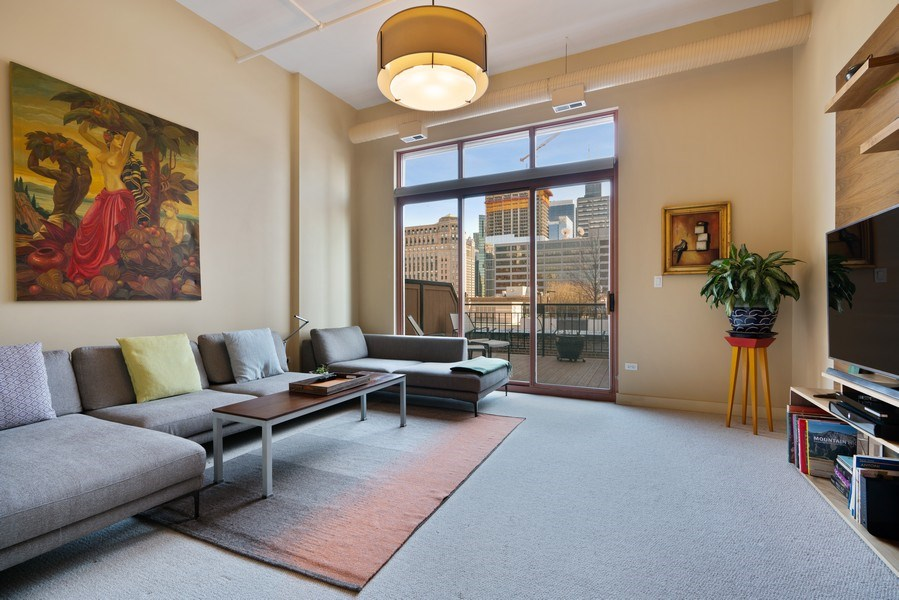 Real Estate Photography - 360 West Illinois, Unit 619, Chicago, IL, 60654 - Family Room
