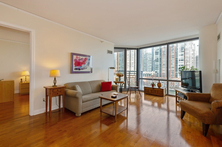 Real Estate Photography - 450 E. Waterside, #401, Chicago, IL, 60601 - Living Room
