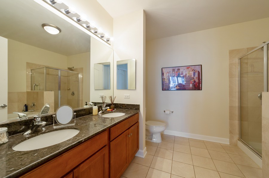 Real Estate Photography - 450 E. Waterside, #401, Chicago, IL, 60601 - Master Bathroom