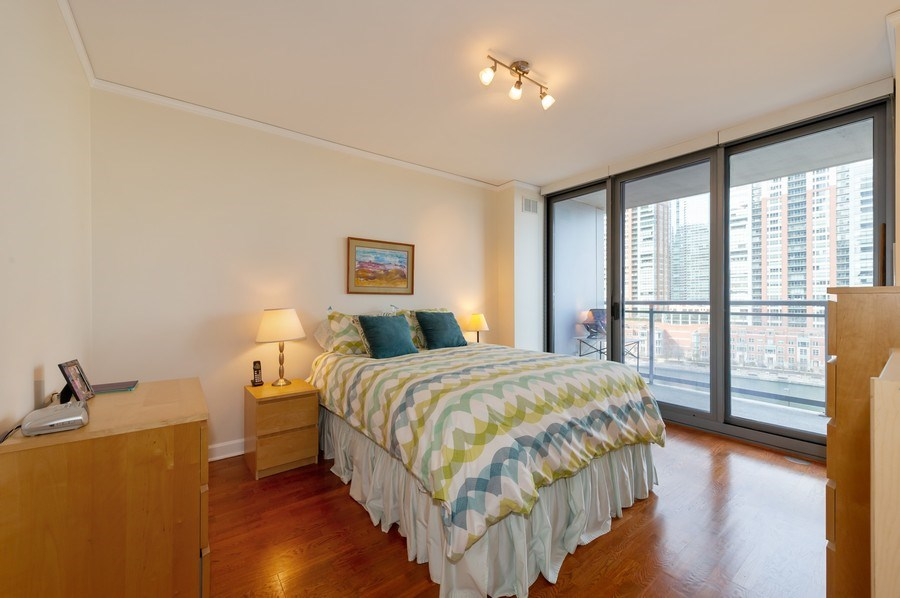 Real Estate Photography - 450 E. Waterside, #401, Chicago, IL, 60601 - Master Bedroom