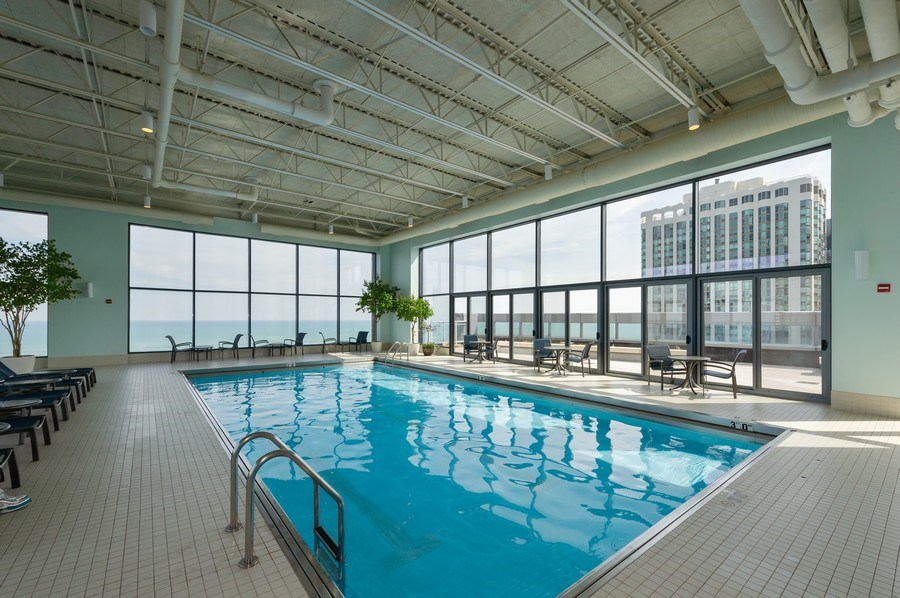 Real Estate Photography - 450 E. Waterside, #401, Chicago, IL, 60601 - Pool