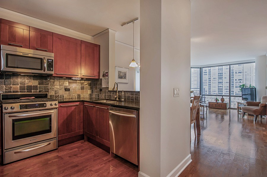Real Estate Photography - 450 E. Waterside, #401, Chicago, IL, 60601 - Kitchen