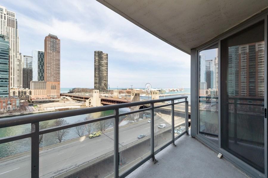 Real Estate Photography - 450 E. Waterside, #401, Chicago, IL, 60601 - Balcony