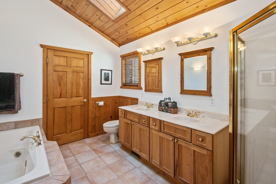 Real Estate Photography - 47644 Lakeview Drive, Lawrence, MI, 49064 - Master Bathroom