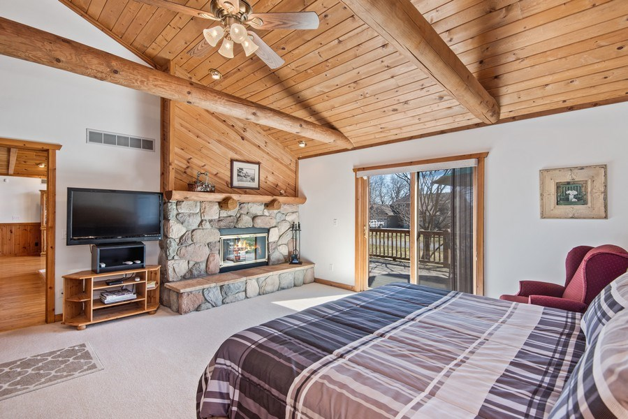 Real Estate Photography - 47644 Lakeview Drive, Lawrence, MI, 49064 - Master Bedroom