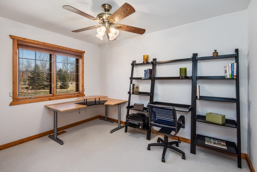 Real Estate Photography - 47644 Lakeview Drive, Lawrence, MI, 49064 - Office / 3rd Bedroom