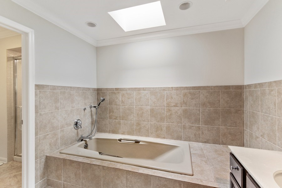 Real Estate Photography - 1291 Estate Ln, Lake Forest, IL, 60045 - Master Bathroom
