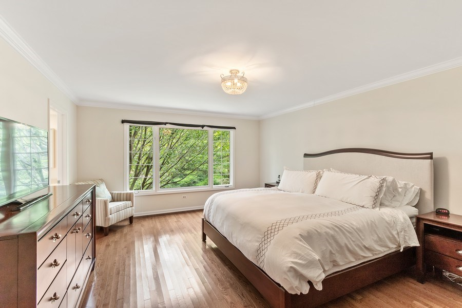 Real Estate Photography - 1291 Estate Ln, Lake Forest, IL, 60045 - Master Bedroom