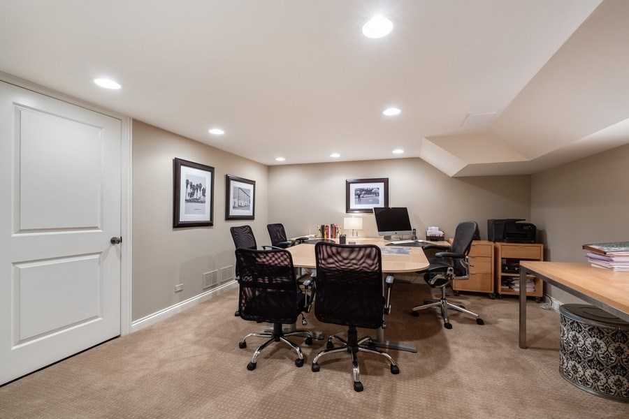 Real Estate Photography - 3605 Pebble Beach, Northbrook, IL, 60062 - Lower Level Office